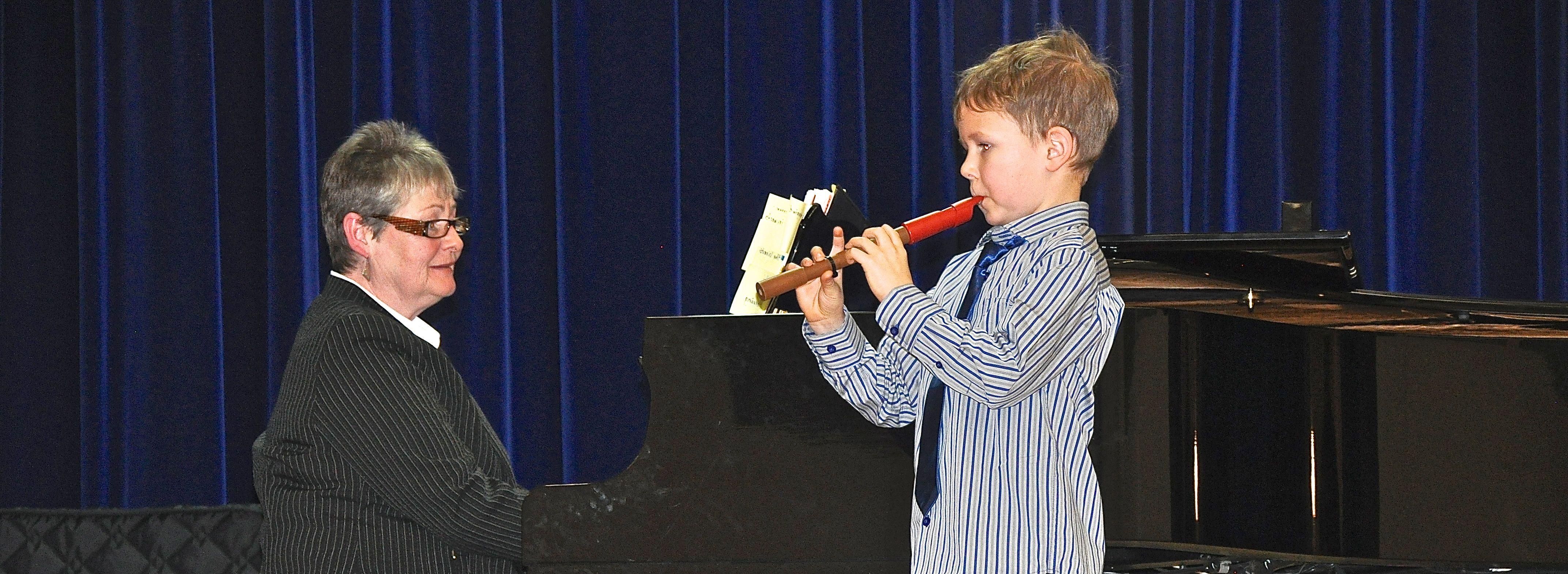 Boy recorder w: piano